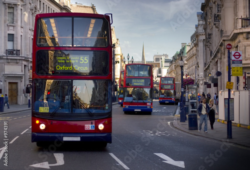 Tuinposter Londen rode bus london bus