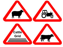 Countryside Hazard Sign