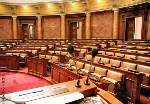 parliamentary debate Fotobehang