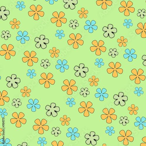 Foto-Stoff bedruckt - crazy daisy 3 (von BG Designs)