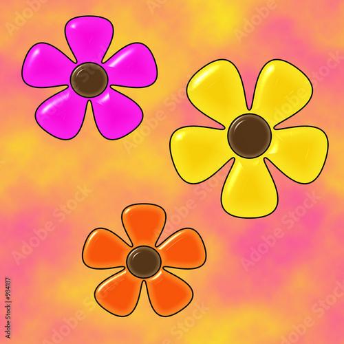 Foto-Stoff bedruckt - glass daisies (von BG Designs)