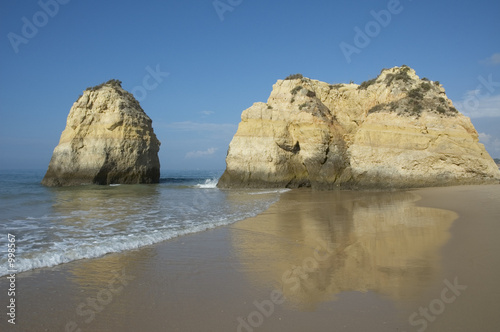 Foto-Kissen - beach in algarve, portugal (von javarman)