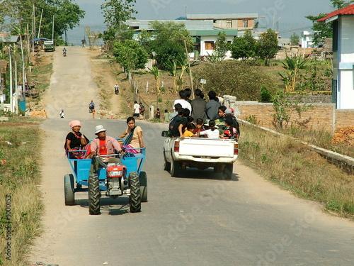 Fotobehang Indiërs circulation, myanmar