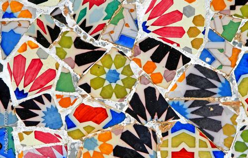 Canvastavla random mosaic pattern