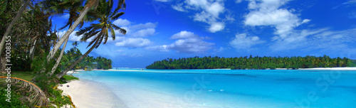 Poster Tropical plage panoramic lagoon ii