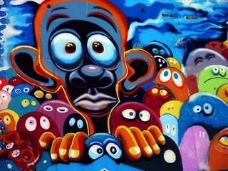 Fototapeta samoprzylepna graffiti, barcelone