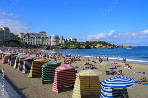 biarritz plage Wallpaper Mural