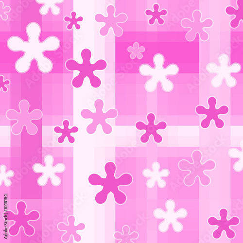 einzelne bedruckte Lamellen - pink designs on checks (von cycreation)
