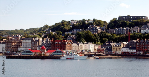 oban bay and mccaigs tower Canvas Print
