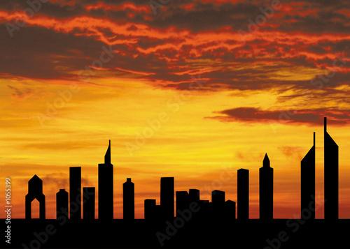 Photo  sheikh zayed road, dubai, united arab emirates