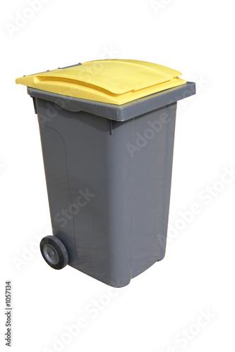 poubelle jaune Canvas Print