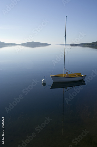 Foto-Leinwand - segelboot am morgen