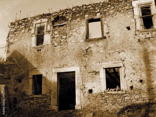 Aluminium Prints Mills facade en ruine