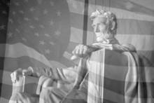 Lincoln Memorial & American Flag