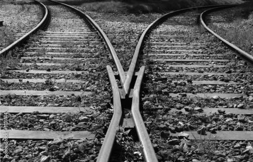 Foto auf Leinwand Eisenbahnschienen wohin ?