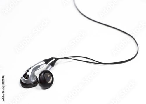Fotografia, Obraz  silver ear bud headphones