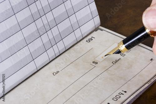 Fotografie, Obraz  writing check