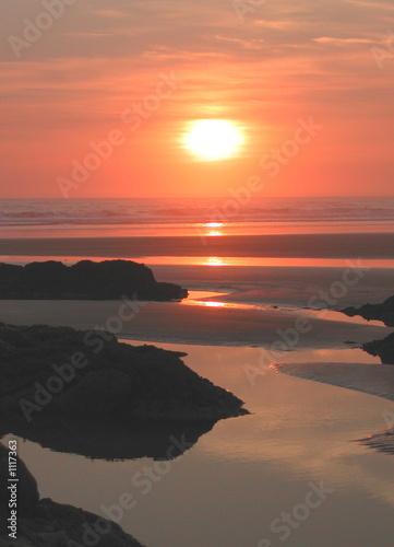 Stampa su Tela coucher de soleil a sauveterre