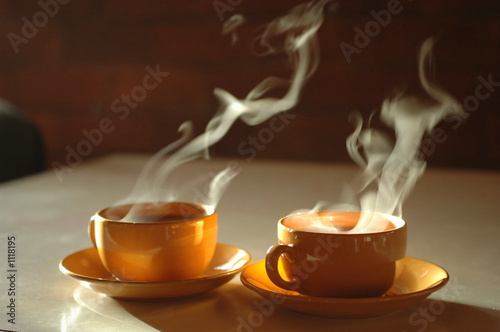Spoed Fotobehang Thee hot tea