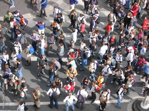 foule de gens Tablou Canvas