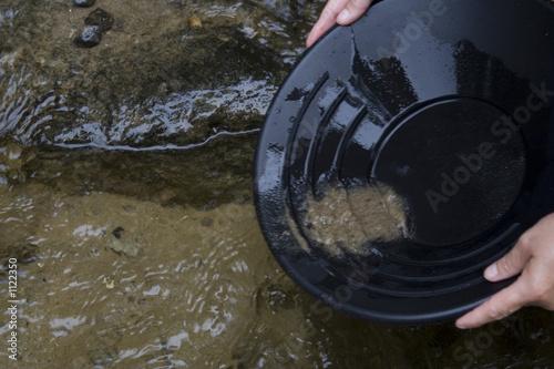 Cuadros en Lienzo gold panning prospecting