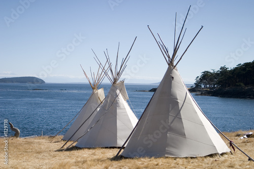 Poster Indiens three teepees
