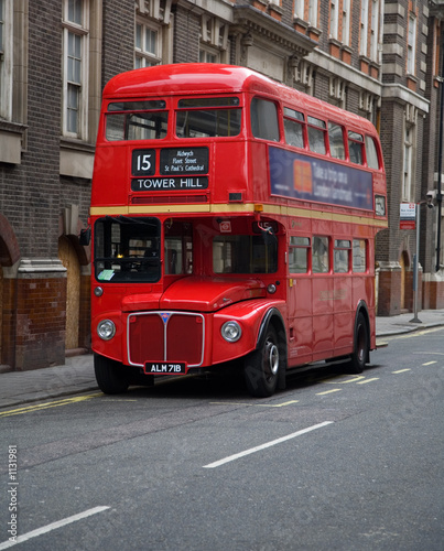 Tuinposter Londen rode bus london double decker bus
