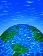 Leinwandbild Motiv clean earth