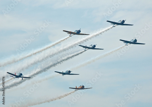 Fotomural warplane formation
