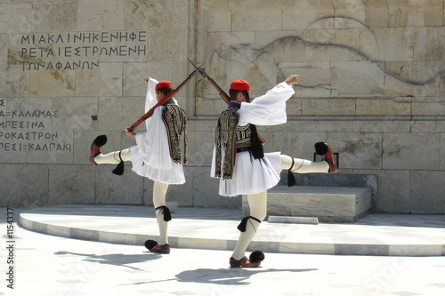Photo parliament monument athens greece