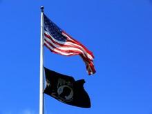 U.s. Flag With Mia/pow Flag