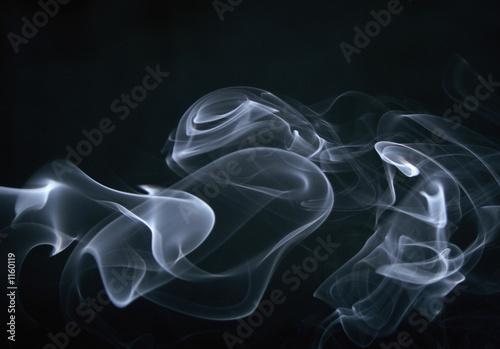 Fotobehang Rook smoke, swirls and art