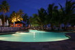 resort pool at night