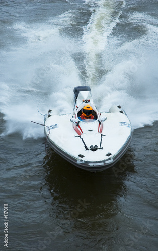 Poster Nautique motorise speeding