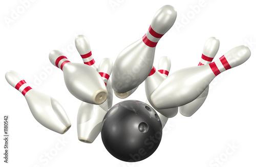 Obraz na plátne bowling 3d