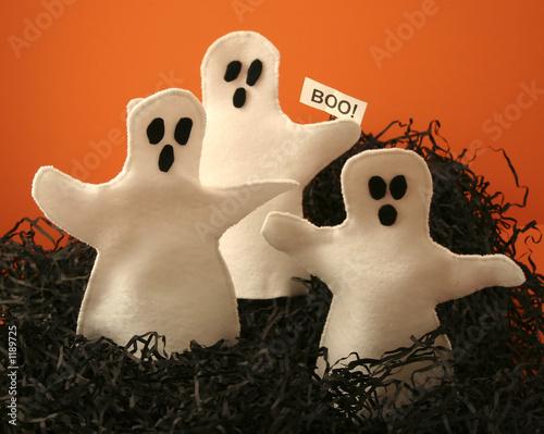 Fényképezés  three felt halloween ghosts