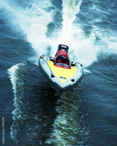 Wall Murals Water Motor sports boat race