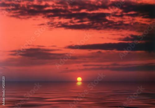 Photo sur Toile Rouge mauve sunset