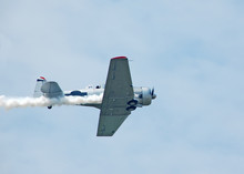 Wartime T-6 Airplane At Airshow