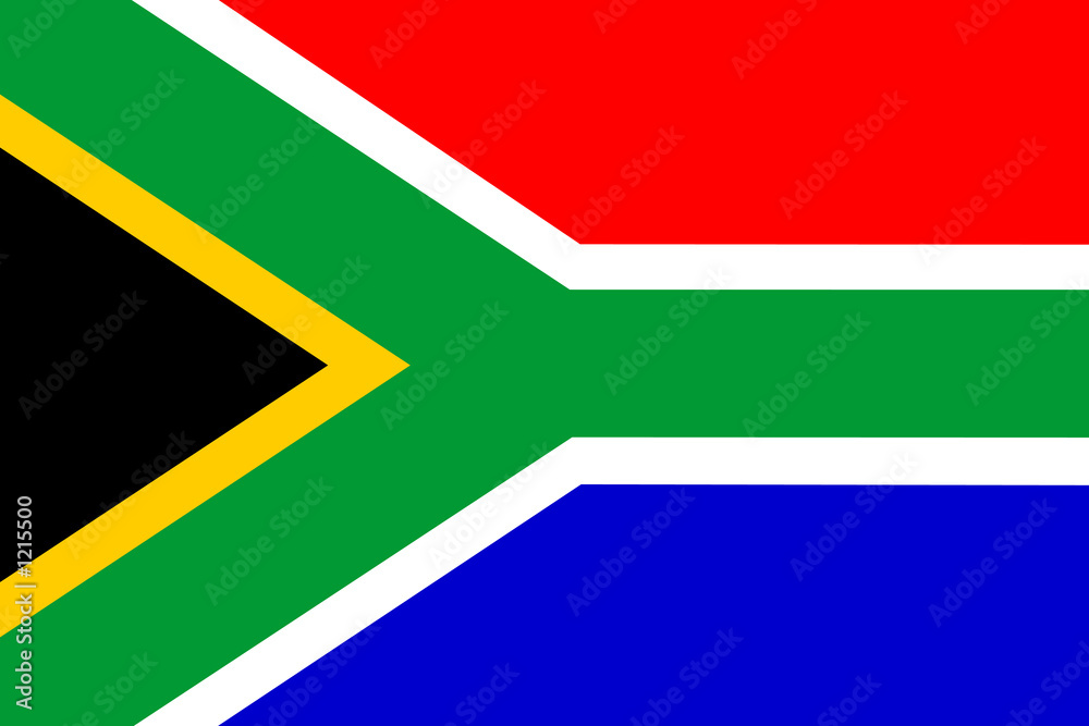 Fototapety, obrazy: flag of south africa