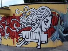Graffiti Incas Woman