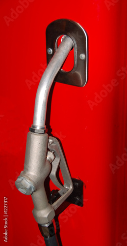 Foto  vintage fuel pump and nozzle