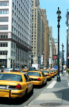 Yellow Cab Stand In New York