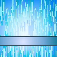Blue Techno Retro Squares Background