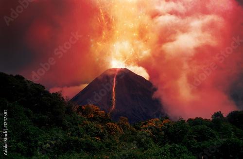 Fotografie, Tablou erupting volcano