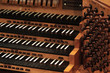 canvas print picture - pipe organ keyboard