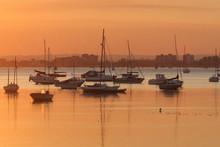 Poole Harbour At Sunset