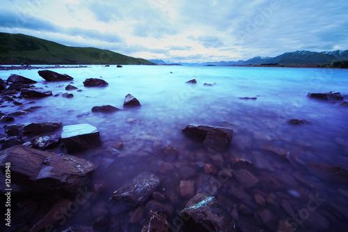 Foto-Schiebegardine Komplettsystem - amazing lake tekapo (von Creativa Images)