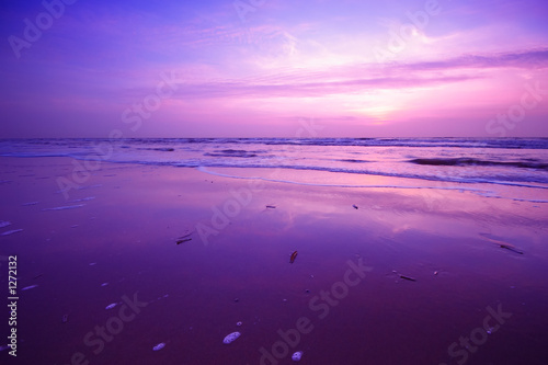 Cadres-photo bureau Prune sunset background