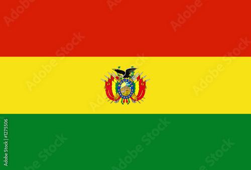 flag of bolivia Canvas Print